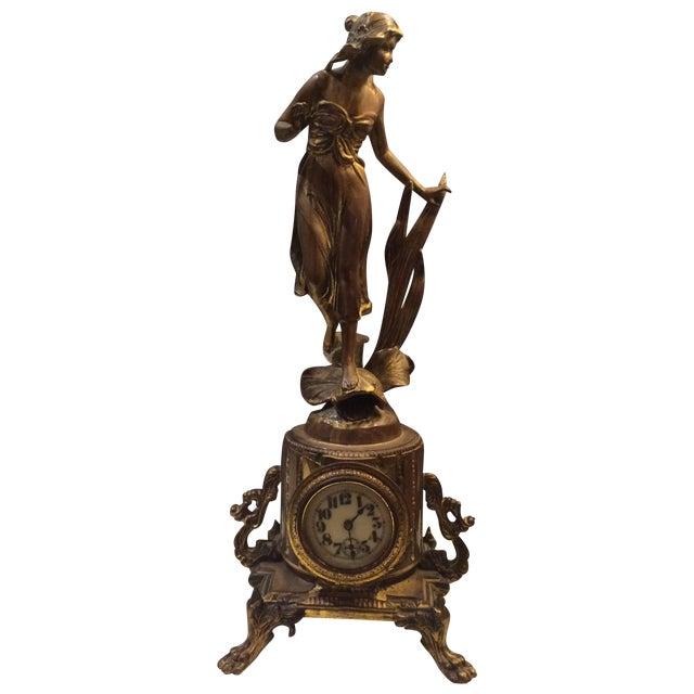 Bronze Sculptural Clock - Image 1 of 8