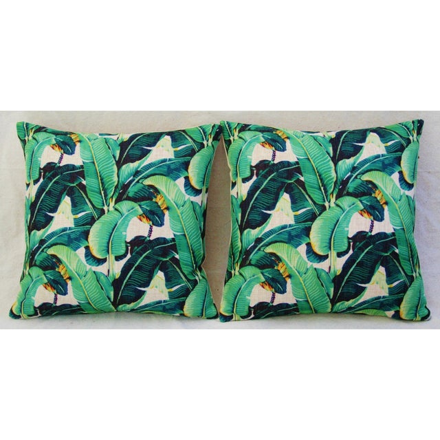 Dorothy Draper-Style Banana Leaf Pillows - A Pair - Image 3 of 10