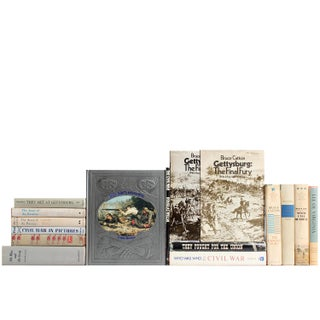 Distressed Civil War Book Selections - Set of 15