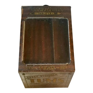 Vintage 1930s Advertising Apothecary Countertop Metal Display Case