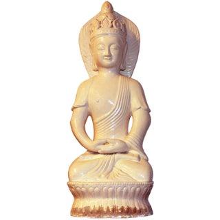 Ceramic Quan Yin Sitting Figurine