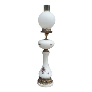 Vintage Marble & Brass Table Lamp