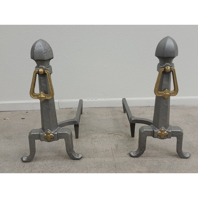 Art Deco Style Andirons - Pair - Image 2 of 5