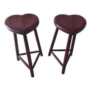 Richard Mulligan Handmade Heart Stools - A Pair