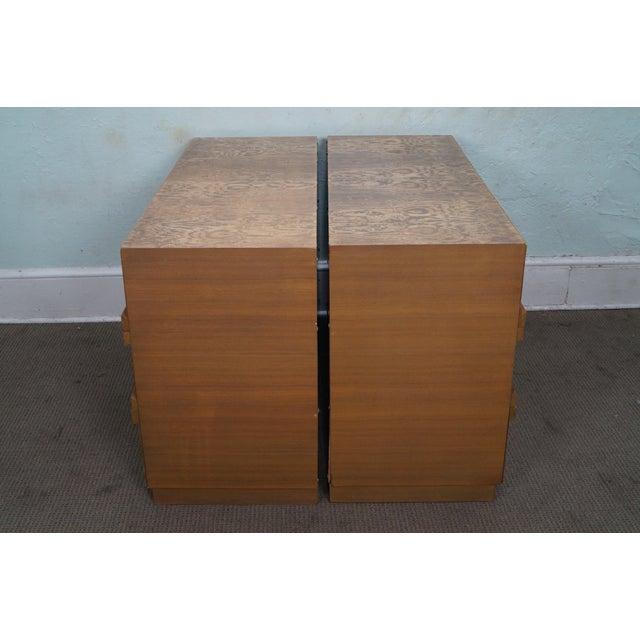 Mid Century Burl Wood Dressers A Pair Chairish