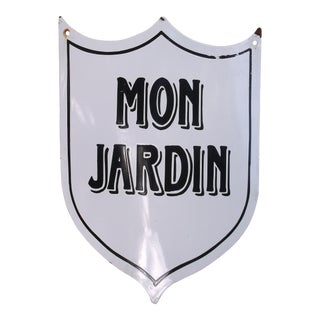 "Vintage French ""Mon Jardin"" Garden Sign"