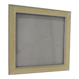 Enamel Silver Bordered Frame