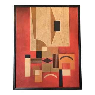 Mid-Century Geometric Abstract Painting