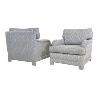 Post Modern Upholstered Lounge Chairs - A Pair
