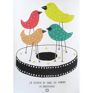2016 Cuban Silkscreen, 30 Aniversario EICTV (birds)