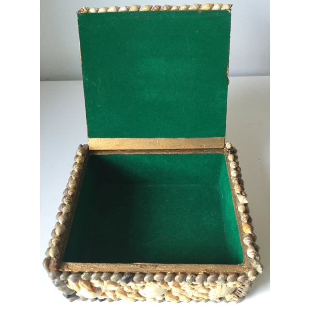 Vintage Shell-Encrusted Decorated Box - Image 6 of 7