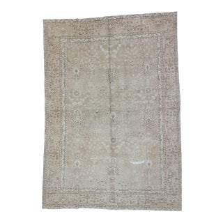 Vintage Washed Out Persian Tabriz Rug - 7′7″ × 11′