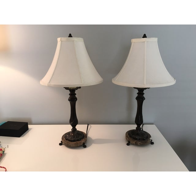 Restoration hardware desk lamps pair chairish - Restoration hardware lamps table ...