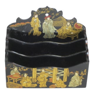 Japanese Hand Painted Lacquer Letter Holder