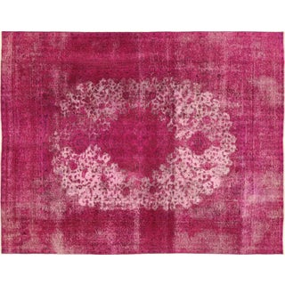 "Overdyed Pink Floral Area Rug - 9'10"" x 12'5"""