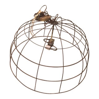 Industrial Basket Chandelier