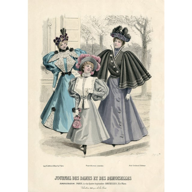 Image of Vintage French Fashion Print 1888
