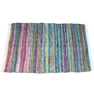 Striped Boucherouite Rug - 4′ × 6′