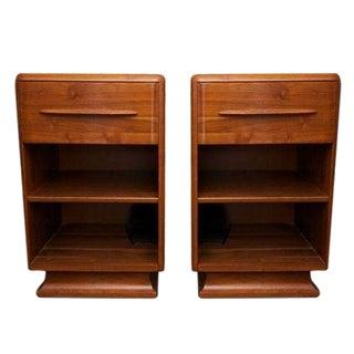 Bissman Walnut Bedside Tables - A Pair