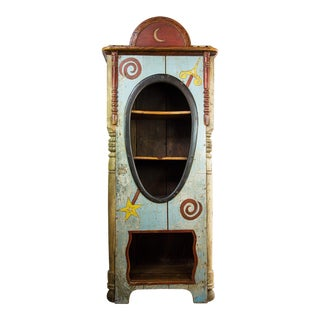 Antique Richard Dunbrack Folk Art Cupboard