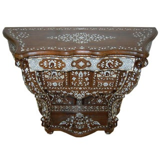 Vintage Mother-of-Pearl Console