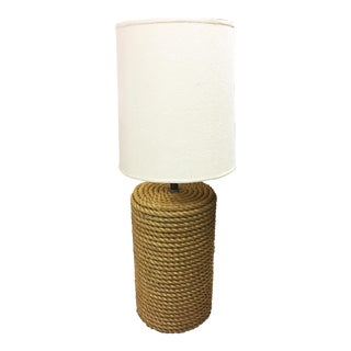 Oversized Rope Base Table Lamp