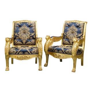 French Giltwood Armchairs - A Pair
