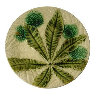 19th Majolica Chesnut Plate