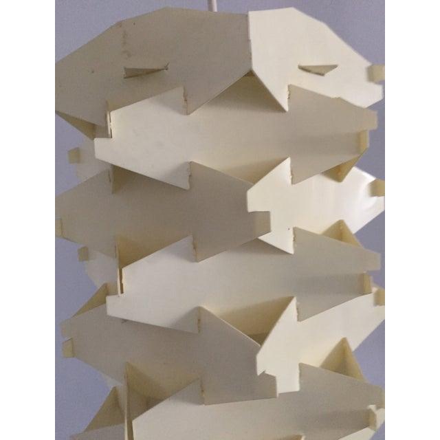 Vintage 1970s Geometric Pendant Light - Image 3 of 4