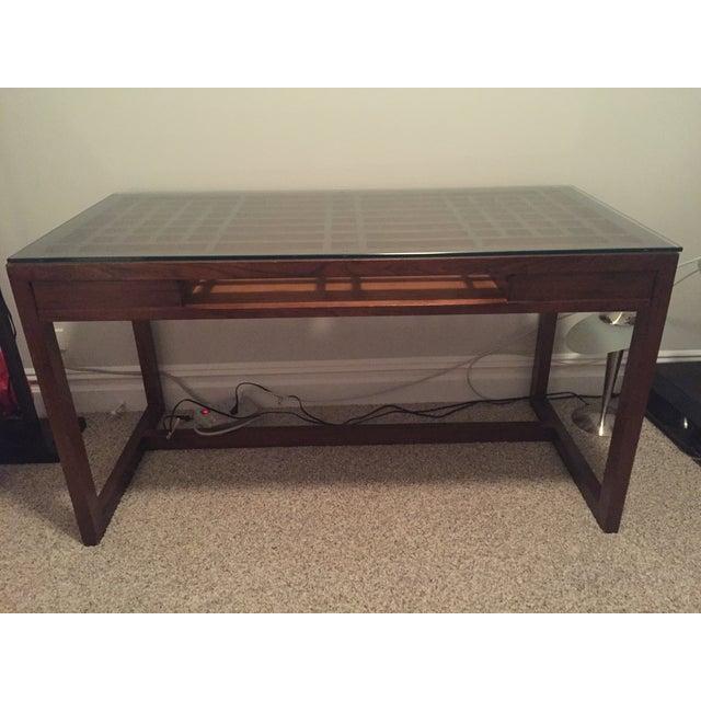 Crate & Barrel Wooden Desk - Image 4 of 4