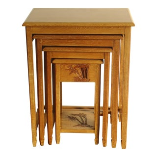 Chinese Carved Nesting Side Tables - Set of 4