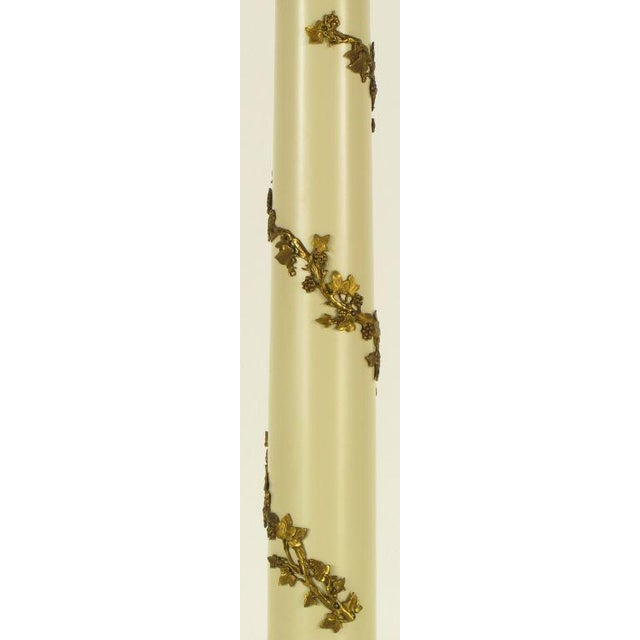 Pair Stiffel Neoclassical Brass & Ivory lacquered Table Lamps. - Image 8 of 10