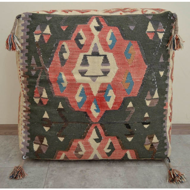 Turkish Hand Woven Kilim Floor Pillow Cushion Cover - 24? X 24? Chairish