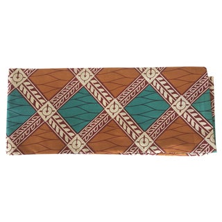 Green & Orange Wax Print Fabric - 6 Yards