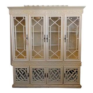 Regency Style Fretwork Pagoda Cabinet