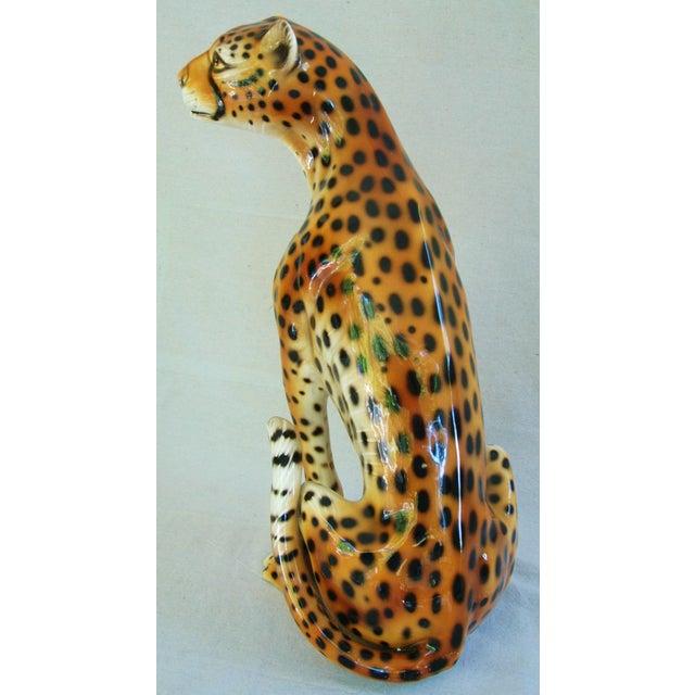 Large Hollywood Glam Mid-Century Italian Cheetah - Image 7 of 11