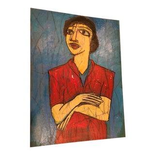 Ronald Ahlstrom Modernist Portrait Painting