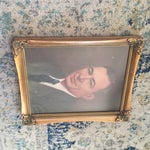 Image of Vintage Framed Portrait Painting of Business Man