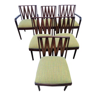 Classic 1940's Modern Paul Frankl Dining Chairs for Johnson Furniture