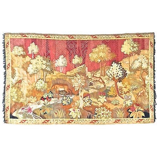 Antique Black Forest Aubusson Tapestry