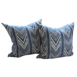 Custom Hand-Spun Linen Pillows - A Pair