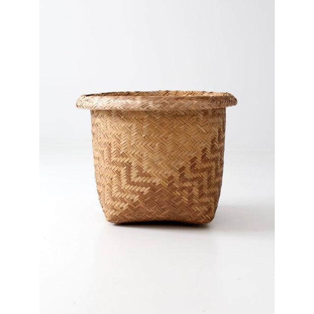 Vintage Indonesian Basket - Image 5 of 9
