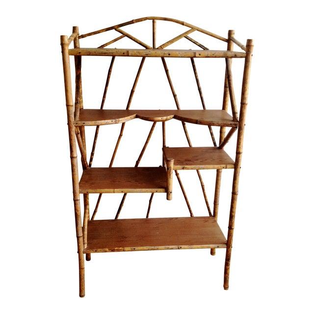 AntiqueTortoise Bamboo Display Shelf Bookcase - Image 1 of 6