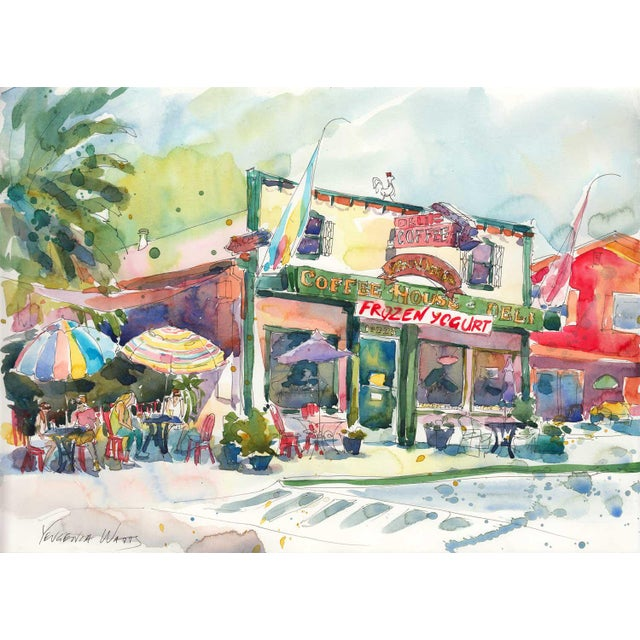 Image of After the Run - Fair Oaks Deli Watercolor Painting