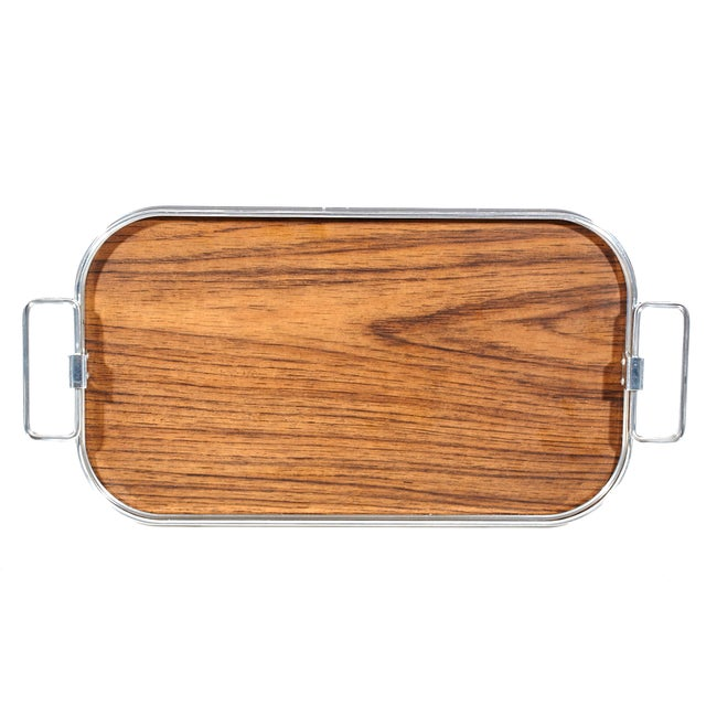 1960's Wood Laminate Serving Tray - Image 1 of 4