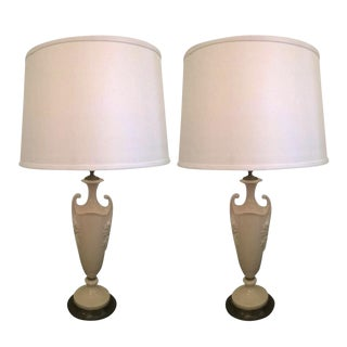 1930s Lenox China Table Lamps - A Pair