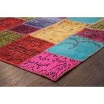 Image of Apadana Multicolor Patchwork Overdye Rug - 4' x 6'