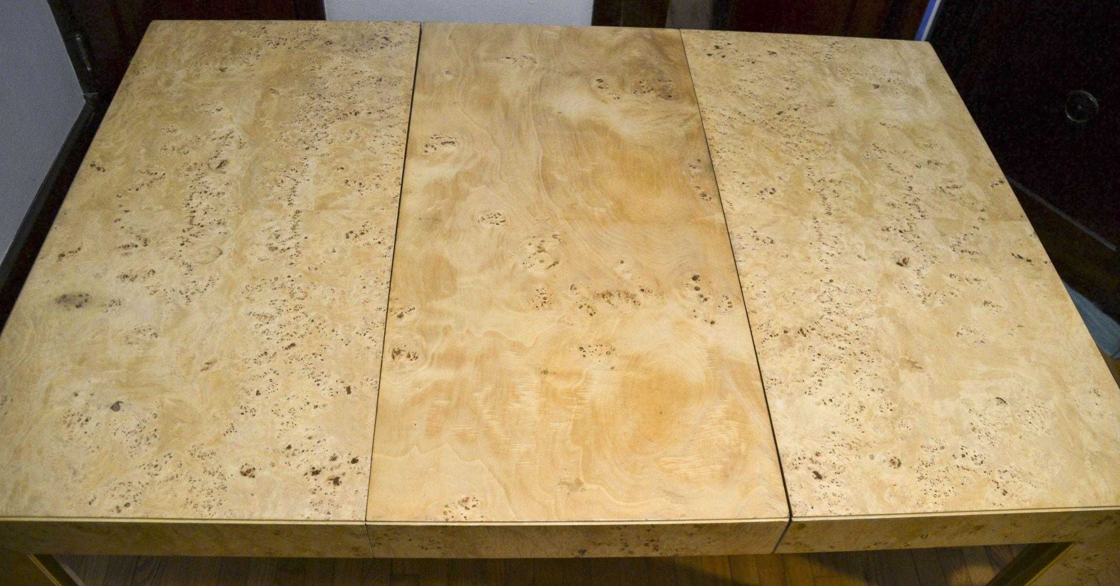 Thomasville Burl Wood Parsons Expandable Dining Table   Image 5 Of 7 Part 54