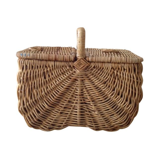 Handmade Wicker Picnic Basket - Image 1 of 5
