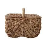 Image of Handmade Wicker Picnic Basket